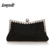 Ladies Evening Clutch Bags Diamond 2017 Women Evening Bag Beaded Day Clutches Party Purse Shinestones Banquet Wedding Shoulder(China)