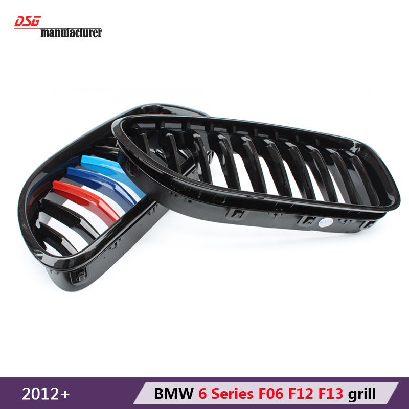 2012 + m sport tri-color mesh bumper grille grill with m6 emblem for bmw 6 series f06 2 door f12 coupe f13 cabrio 640i 650i 640d<br><br>Aliexpress