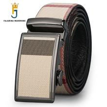FAJARINA Unique Casual Cowhide Genuine Ostrich Pattern Formal Strap Leather Automatic Buckle Brown Belts for Men Belt N17FJ011