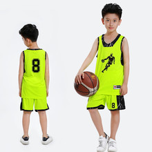 New Kids Basketball Jersey Sets Uniforms Boys Sports kit clothing Youth basketball jerseys shorts Quick Dry Breathable DIY Print