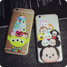For Cell Phone Transparent Cute Cartoon Case Cover For Apple iPhone 6 Case Brand 6 Series Silicone Soft Case For Phone