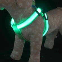 Nylon LED Dog Harness Pet Cat Dog Collar Harness Vest High Quality Safety Lighted Dog Harness Small / Big / Large Size Wholesale