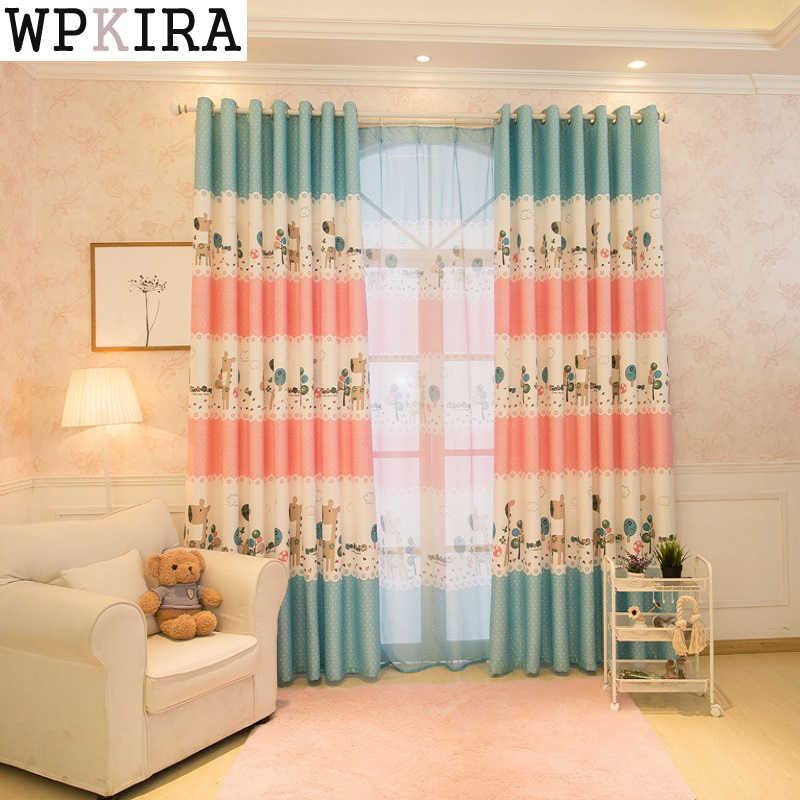 Children Horse Window Curtain Eco-friendly Cartoon Curtains Kids Room Babys Room Girls Room Customize Curtain S152&20