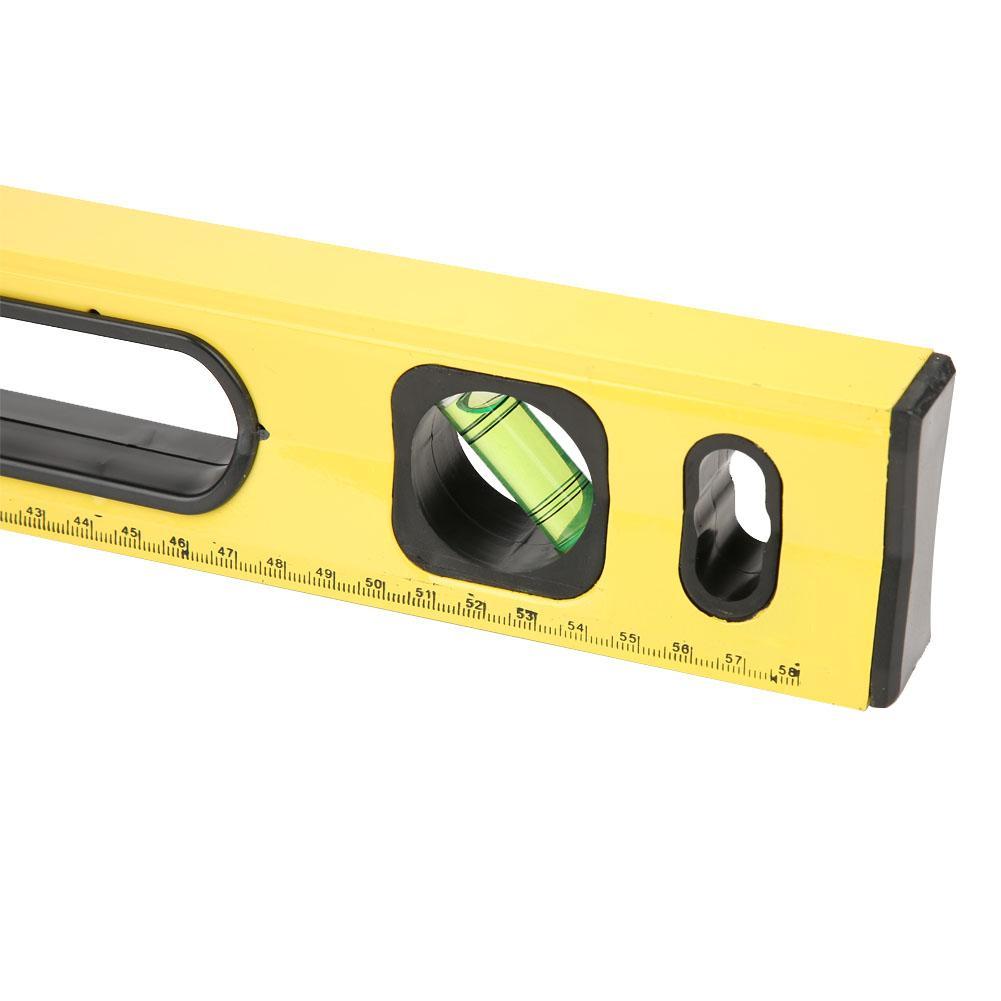 Bubble Spirit Level 600mm Yellow High Precision Magnetic Aluminum Alloy Bubble Ruler Spirit Level measurement device Spirit Level