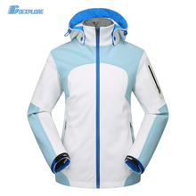 Goexplore Outdoor Fleece Soft Shell Warm Jacket Waterproof Warm Windproof hunting hiking camping travel Jacket Women