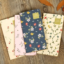 1pcs/lot Vintage Flower Sky series Kraft paper notebook Floral diary(China)