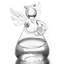 PHFU Praying Angel Vases Crystal Transparent Glass Vase Flower Containers Hydroponic Containers Home Decorations Decor