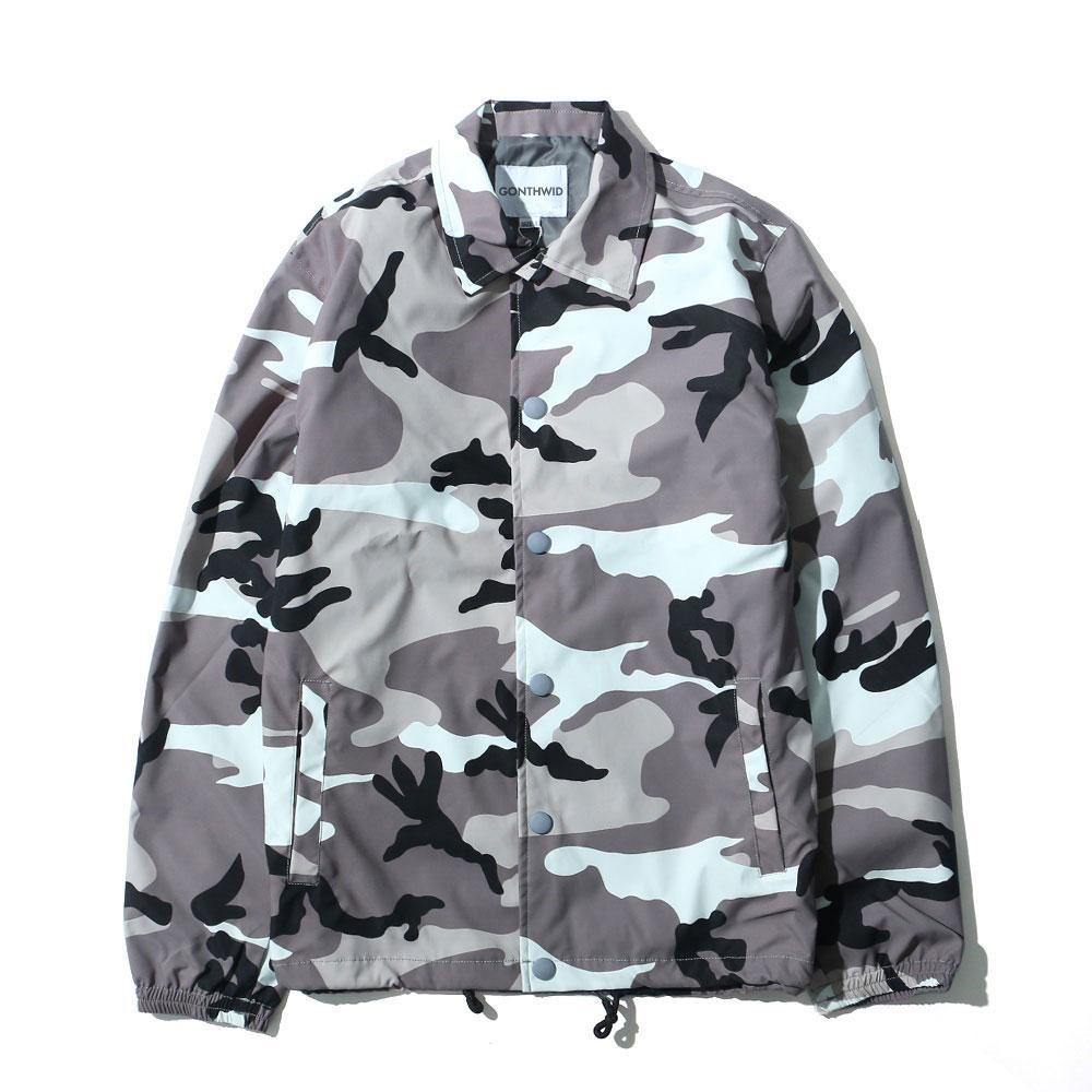 Color Camo Windbreaker Coaches Jackets 2