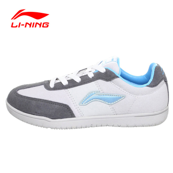 Li-ning mesa tenis de las mujeres shoes fitness lace up leather tejido transpirable ligero zapatillas de deporte shoes mujer apch004 yxt004