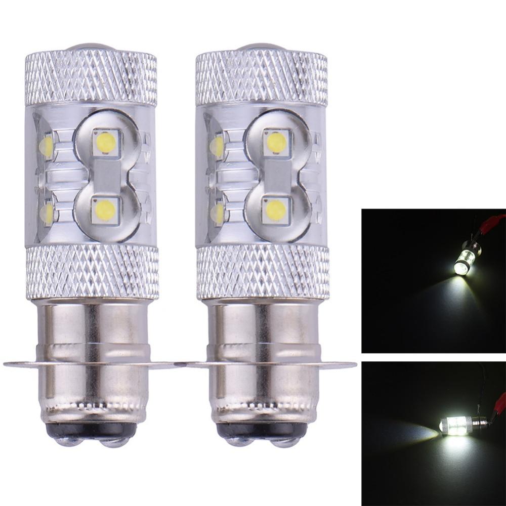 2pcs 50w H6 LED MOTO BIKE Headlights Xenon White Front lighting Lamp Double contact Bulb QUAD 395 DC10~14V<br><br>Aliexpress