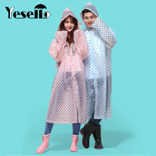 Yesello Durable Raincoat Portable Rain Cape Poncho With Hat Hood for Women Outdoor Travel