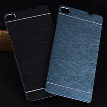 LANCASE For Huawei P8 Lite Case Motomo Aluminum Luxury Metal Brush PC Hard Case For Huawei P9 Lite P9 P8 Honor 4C 4X Accessories(China)