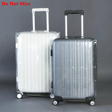 Travel Suitcase Protective Trunk Covers Transparent PVC rain waterproof suitcase dust cover Shell Travel Trolley Case Dust Cover