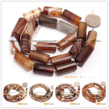 Botswana Agat: Column Faceted Botswana Agat Beads Natural Stone Beads For Jewelry Making Strand 15 Inches Hot Item !