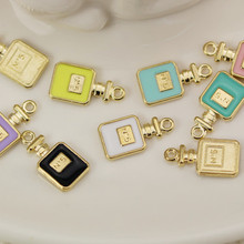 10pcs/lot No. 5 perfume bottle pendant Enamel Charm DIY accessories of necklace bracelet apparel Decoration Jewelry phone