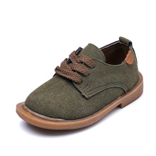 Kids shoes 2018 New leather suede fashion Moccasins boat shoes for toddler boys and girls sneakers casual baby single sneakers(China)