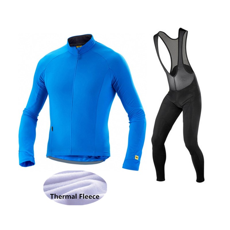 Mavic 2017 Cycling Jerseys Cycling Set Winter Thermal Fleece Long Sleeves Racing MTB Maillot Bike Clothing Ropa Ciclismo <br>