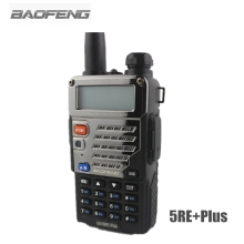 BaoFeng Walkie Talkie UV-5RE+Plus Black Ham Two Way Radio Dual Band VHF UHF FM VOX Dual Display Radios Comunicador