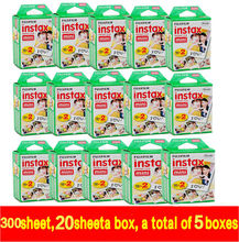 New 20pcs/box fujifilm instax mini 8 film 300sheets for camera Instant mini 7s 25 50s 90 Photo Paper White Edge 3 inch wide film