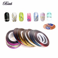 Bittb 10PCS Mixed Beauty Nail Rolls Striping Tape Line UV Gel Nails Art Tips Decoration Fingernail Nail Art Stickers Decal Tools(China)
