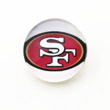 10pcs San Francisco 49ers Snap Buttons DIY Glass 18mm Football Sports Snaps pendants Jewelry Bracelet&bangles charms