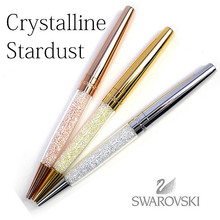 Stardust swarovski Crystal pen Diamond ballpoint pens rollerball pen school office wedding gift Stationery box bag can choose(China)