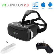 VR Shinecon 2.0 Virtual Reality VR 3D Glasses Headset VR box 3.0 google cardboard for 4.0-6.0 Inch ios/android smart Phone