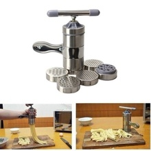 DIY Kitchen Stainless Steel Pasta Noodle Maker Press Spaghetti Machine Juicer Tool Model Toy