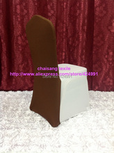10pcs #31 Chocolate Brown Chair Back Caps ,Back Cover For Chair &Wedding Events&Banquet Decoration,(China)