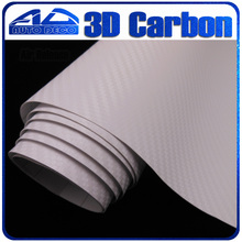 Quality Guarantee White 3D Carbon Fiber Vinyl Film Car Sticker Air Bubble Free Wrapping FedEx - Auto Deco Co., Ltd store
