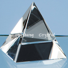 LONGWIN 8cm  crystal pyramid tower professional custom gift custom crystal gifts office favor decorations