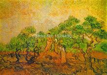 Olives Picked Of Vincent Van Gogh 100% Hand Made Copy Impressionist Oil Painting On Canvas Wall Art Picture For Living Room