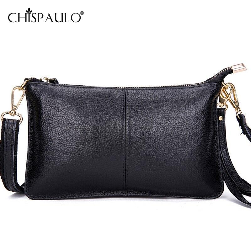 100% Genuine Leather Bags Women Messenger Bags Famous Brands Fashion Ladies Shoulder Crossbody Bag Feminine Clutch Bags bolsa<br><br>Aliexpress