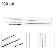 ROSALIND 3PCS/SET Brushes For Manicure Gel Nail Pens Brushes Nail Art Sable Painting Pen Brush Detailer Liner Striper Tools(China)