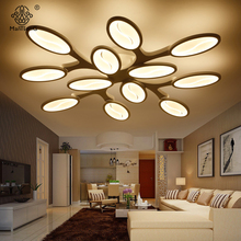 Led Point Ceiling Light Modern Acrylic Lampshade Iron Simple Lamp AC Fixtures Illumination For Parlor Hall Home Indoor Lighting(China)