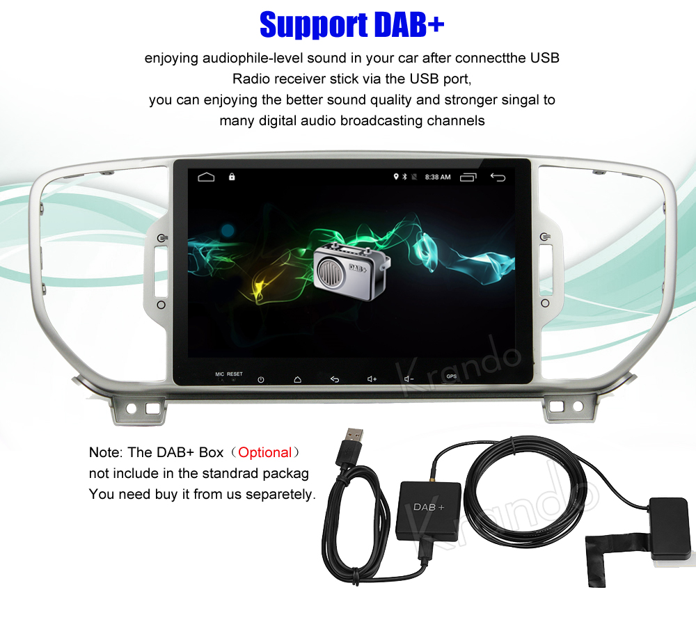 Krando Android car radio gps for kia sportage 2016+ navigation multimedia system (6)