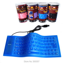 New 85 Keys Mini USB Silicone Flexible portable Waterproof Keyboard For PC/Laptop with Thai Arabic Russian Hebrew sticker(China)