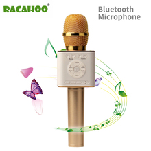 RACAHOO 2017 Hottest Microphone Bluetooth Wireless USB Speaker For Karaoke KTV Singing For Android IOS PC Xiaomi Samsung Phone(China)