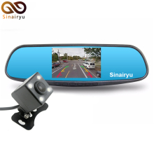 "HD 1080P 4.3"" Car Rearview Mirror DVR Monitor with Bracket Car Camera Parking Night Vision Car DVR Dual Camera Video Recorder"