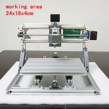 CNC 2418 500mw/2500mw5500mw laser GRBL control Diy laser engraving ER11 CNC machine,3 Axis pcb Milling machine,Wood Router 24x18