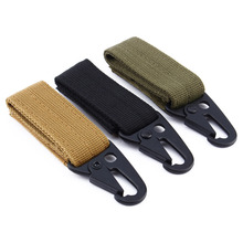 Tactical Nylon Climbing Carabiner Hook Gear MOLLE Webbing Buckle Key Hanging System Belt Metal Buckle Camping Hiking Accessories