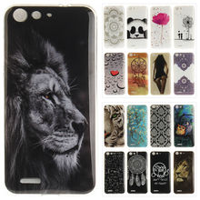 Vintage Phone Case sFor ZTE Blade X7 Coque Silicone Tiger Lion Panda Floral Soft TPU Back Cover For ZTE Blade X 7 Z7 D6 V6