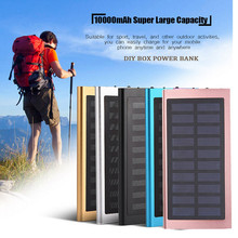 Hot Product 10000mAh Portable Solar Power Bank Dual USB Fast Charger DIY Box Case For Mobile Phone portable charger(China)