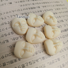 Tanduzi 20pcs Mini Masks Flatback Resin Cabochons Cute Girl Beige Face Flatback Scrapbooking Hair Bow Center Resin Crafts Making(China)