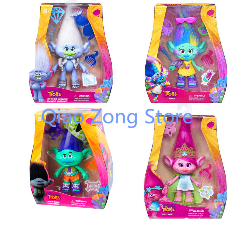 4 Style Trolls Action Toys Branch Critter Skitter Figures Trolls Children Trolls Action Figure Toy With Accessories Retial Box<br><br>Aliexpress