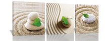 Paintings Print on Canvas Wall Art for Home Walls Decor BANMU 3Pcs Prints Artwork Green Leaves on Pebble Beach Pictures Photo(China)