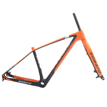 "Buy 2017 bicycle 29er carbon frame Chinese MTB carbon frame 29er carbon mountain bike frame 142*12 disc carbon fiber 15/17"" frame 29 for $470.00 in AliExpress store"