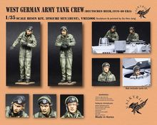 Unpainted Kit 1/35  west german army tank crew include 2 soldiers    Historical WWII Figure Resin Kit Free Shipping