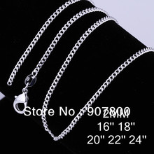 C015 Low price silver 2MM Figaro chain necklace 16-24inches Fashion Jewelry Top quality