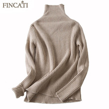 Cashmere Sweater 2017 Autumn Winter Women 100% Pure Cashmere Vertical Striped Knitted Casual Slim Sweaters Pullovers